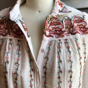 Anthropologie embroidered blouse 4
